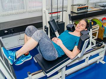 Krafttraining auf der Leg press